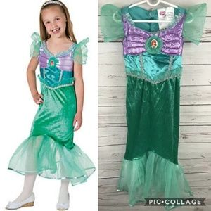 Disney Store Princess Ariel Mermaid Costume 4-6x